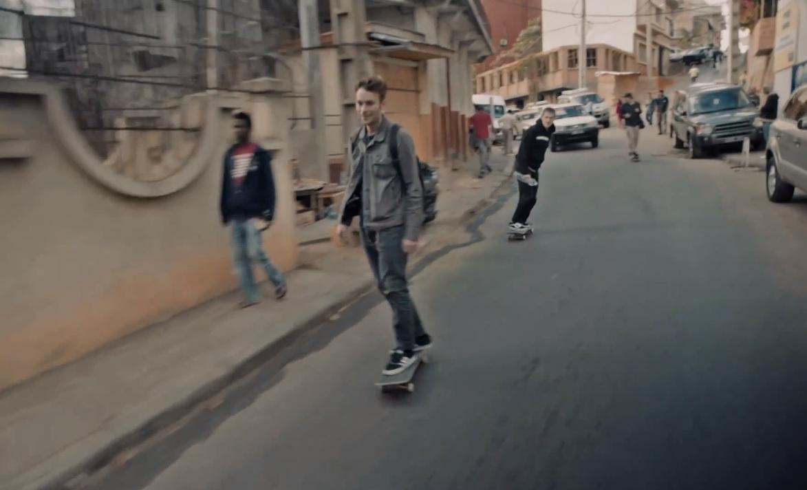 Skateboarding in Madagascar