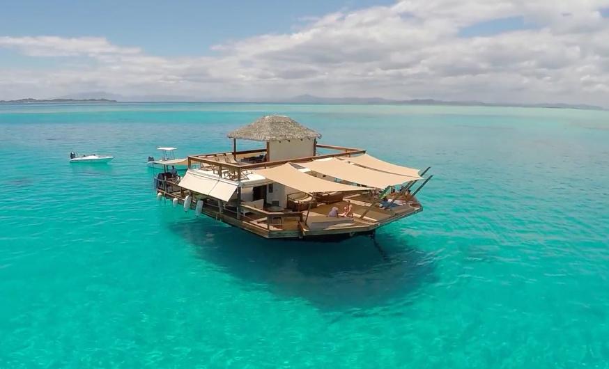 Cloud 9 floating restaurant Fiji