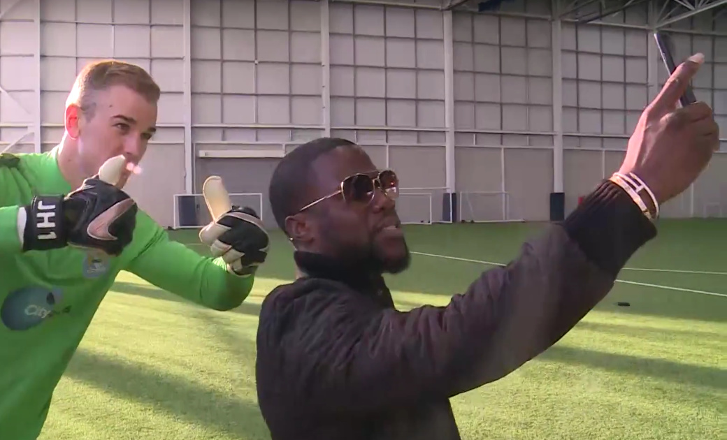 Kevin Hart vs Joe Hart penalty
